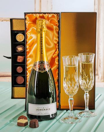 Luxurious Pongracz Champagne & Chocolate Gift box