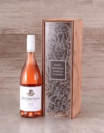 Personalised Perspex Lid Wine Crate