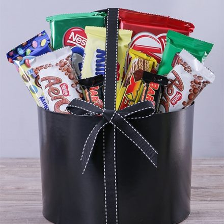 Large Hatbox Filled with Nestle Chocolates