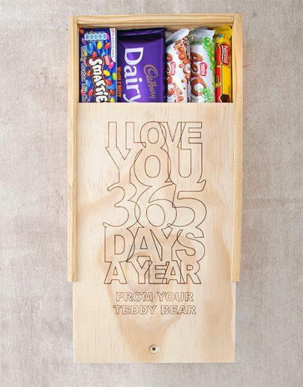 Personalised Love U All Year Chocolate Box