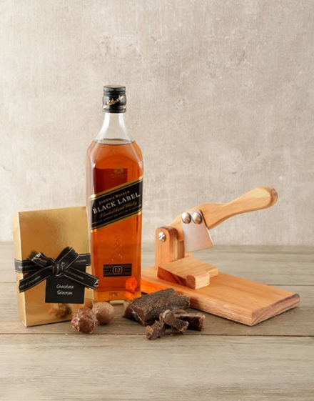 Johnnie Walker Black Biltong Gift Box