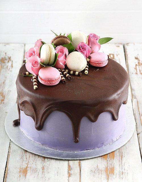 Lilac Macaroon Cake Hamperlicious