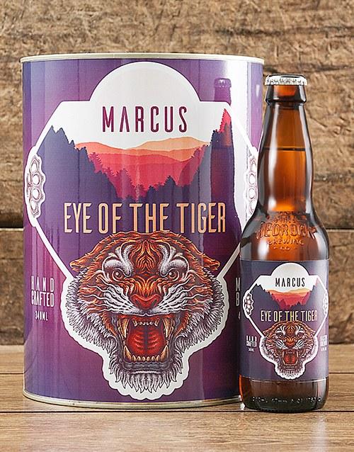 Personalised Eye Of Tiger Craft Beer