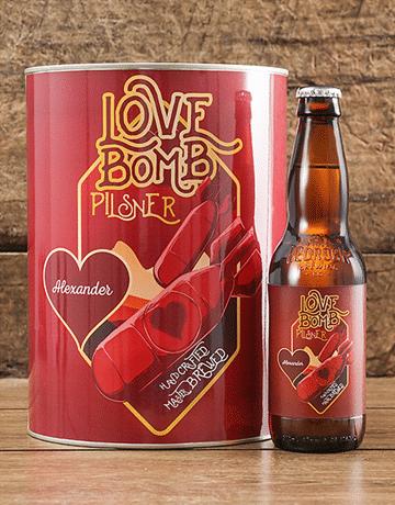 Personalised Love Bomb Craft Beer