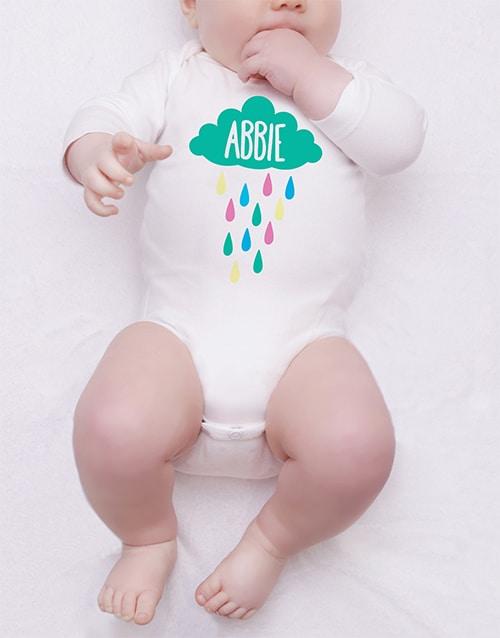 Personalised Rainy Cloud Onesie