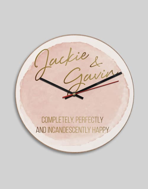 Personalised Happy Clock
