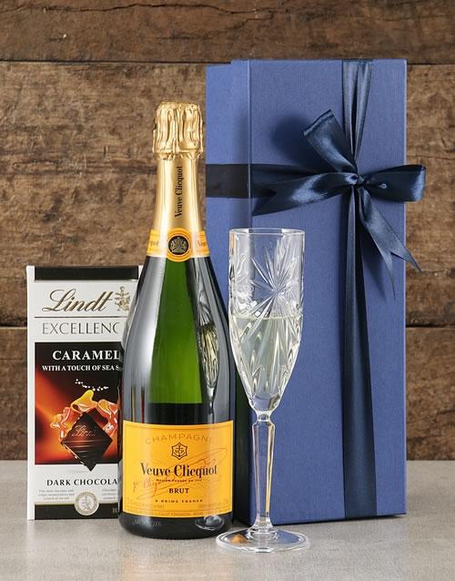 Blue Gift Box of Veuve
