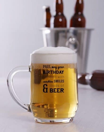 Personalised Birthday Sunshine Beer Mug