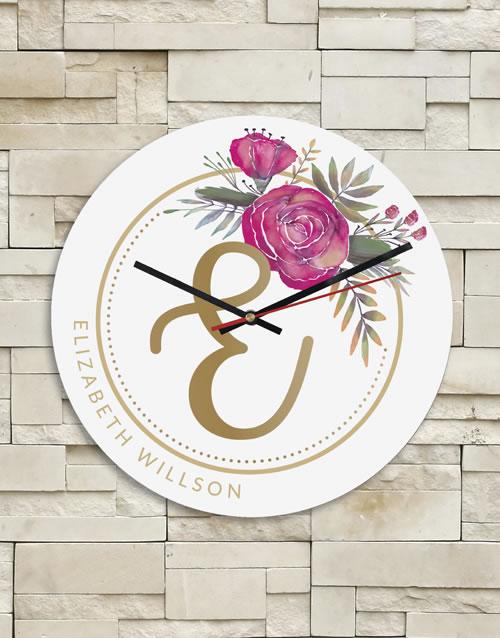 Personalised Floral Clock
