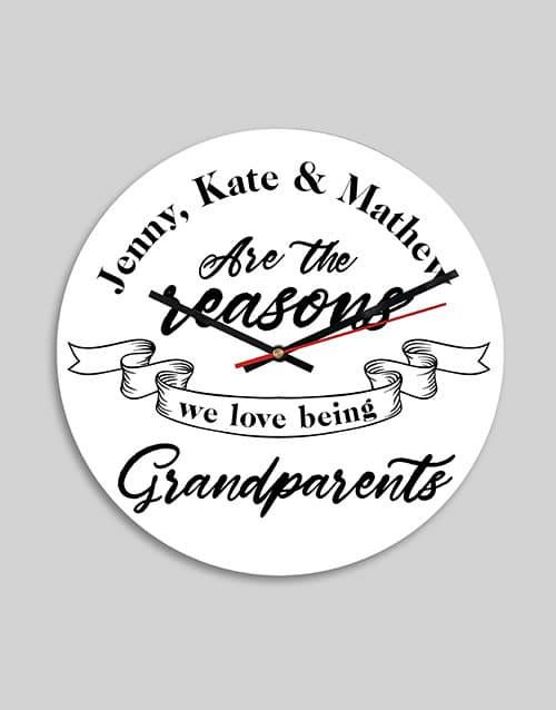 Personalised Grandparents MDF Clock