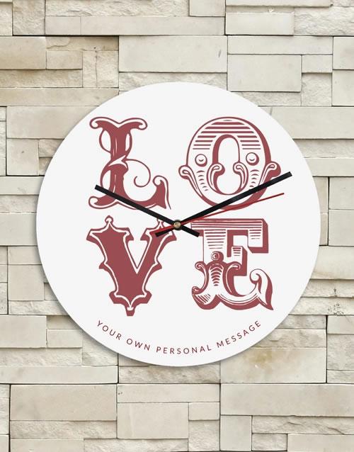 Personalised Love Clock