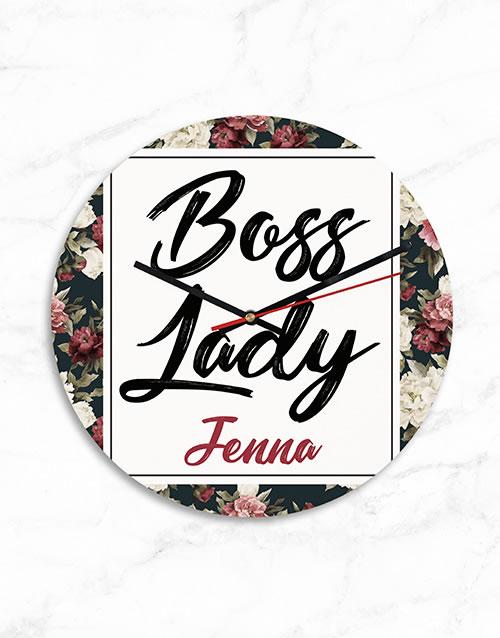 Personalised MDF Boss Lady Clock