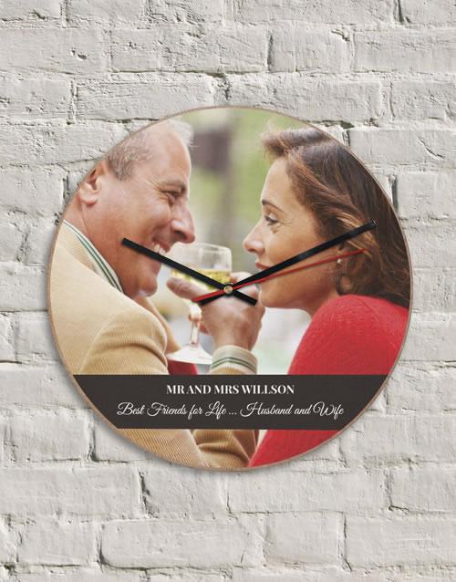 Personalised MDF Husband & Wife Clock