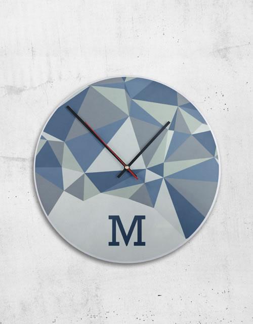 Personalised MDF Initials Clock