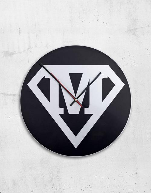 Personalised Metal Superhero Clock