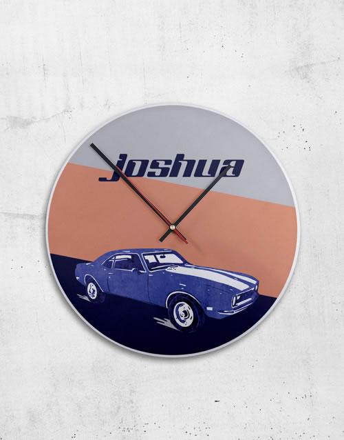 Personalised Metal Vintage Car Clock