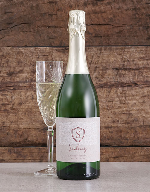 Personalised Monogram Shield Bubbly