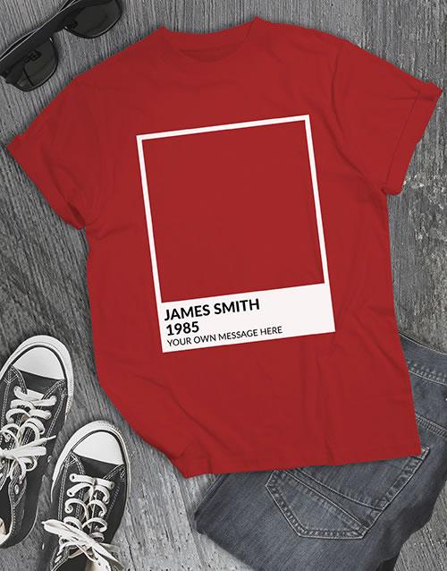 Personalised Pantone T Shirt