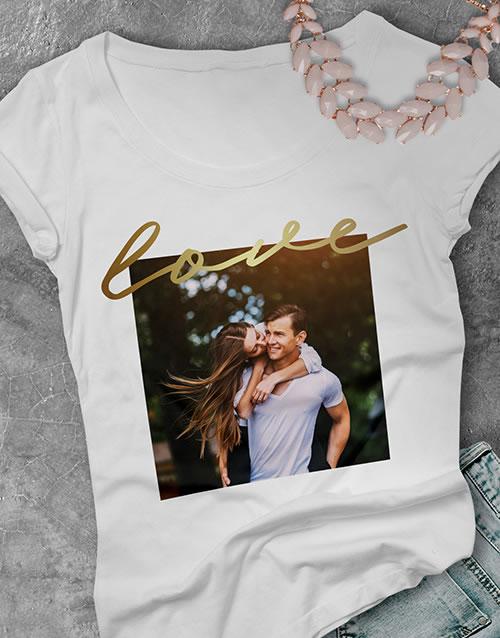 Personalised Photo Upload Love Ladies T Shirt