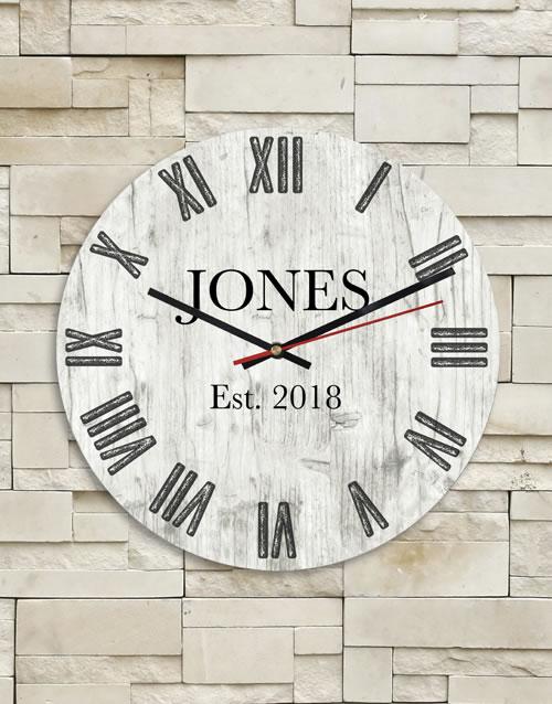 Personalised Surname Clock