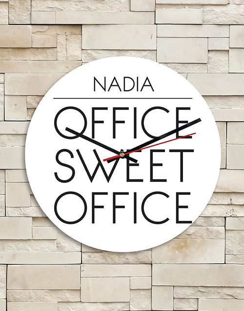 Personalised Sweet Office MDF Clock