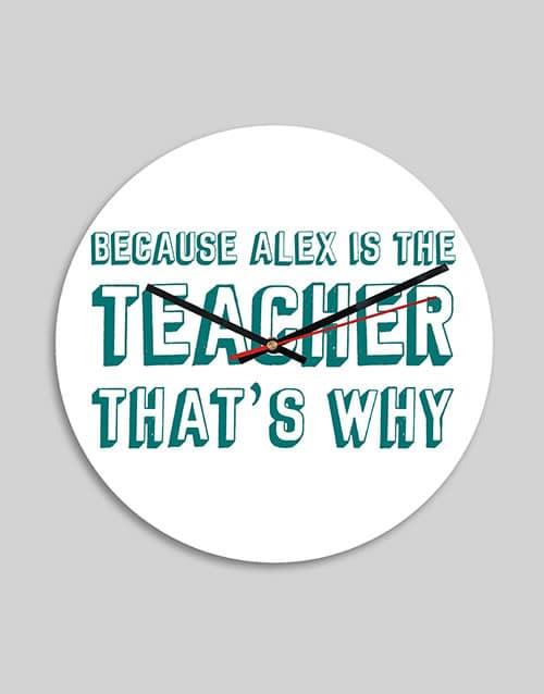 Personalised Teacher MDF Clock