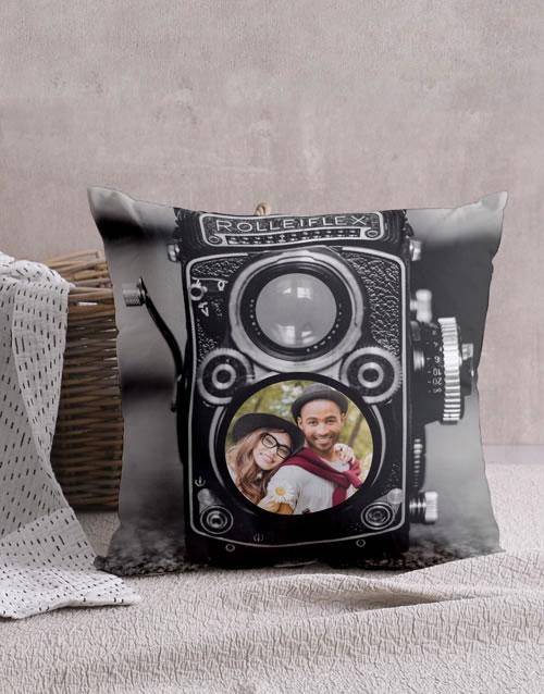 Personalised Vintage Camera Cushion