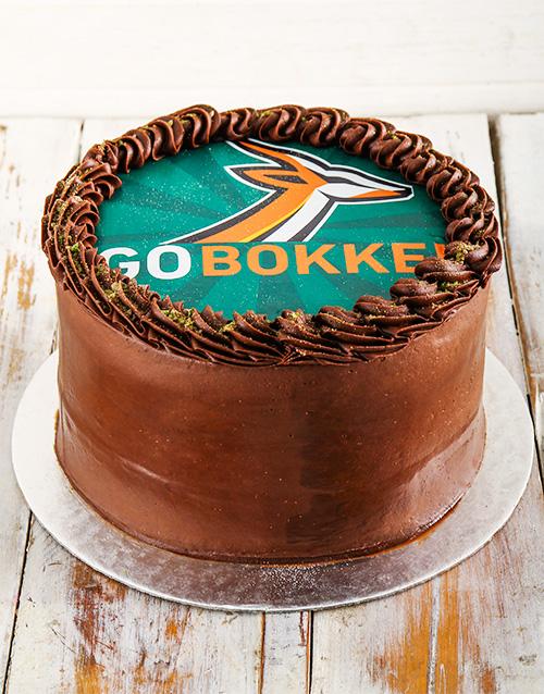 Personalised Go Bokke Peppermint Crisp Cake 20Cm