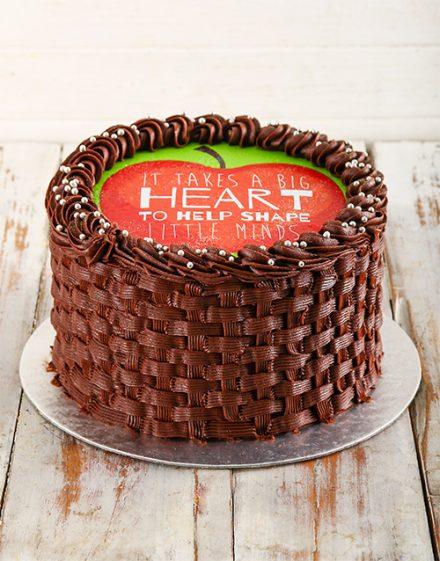 Personalised Teachers Day Chocolate Cake