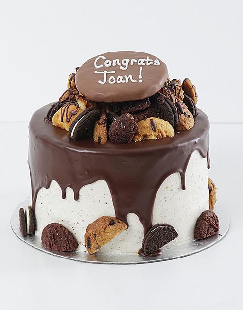 Customised Brownie And Cookie Drip Cake