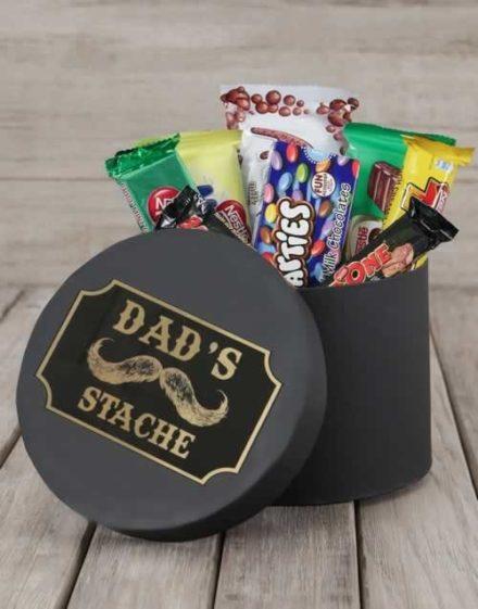 Dads Stache Choc Hat Box