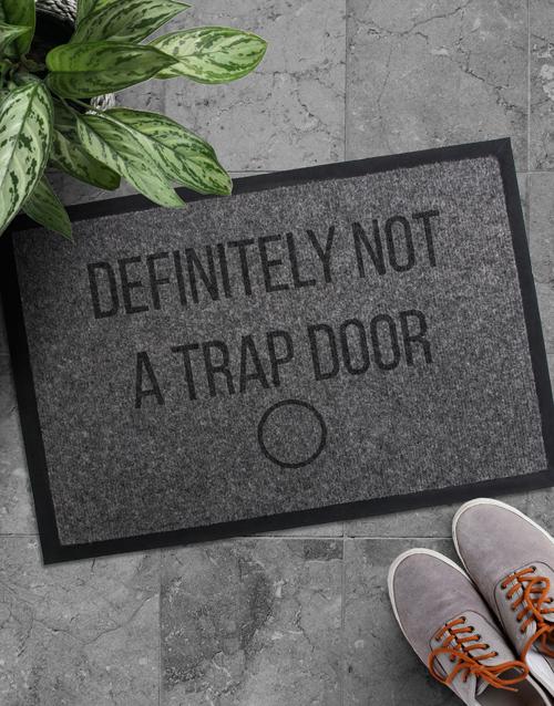 Personliased Trap Door Door mat