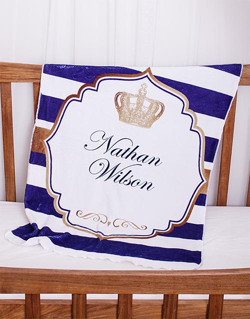 Personalised Prince Baby Fleece Blanket