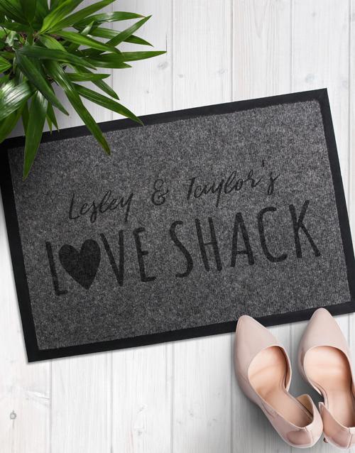 Personalised Love Shack Door Mat