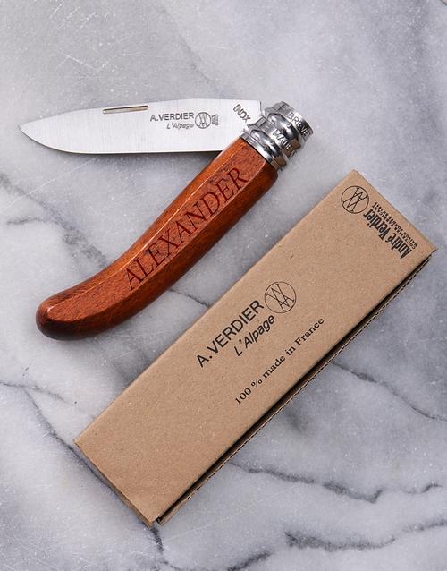 Personalised Alpage Bubinga Pocket Knife