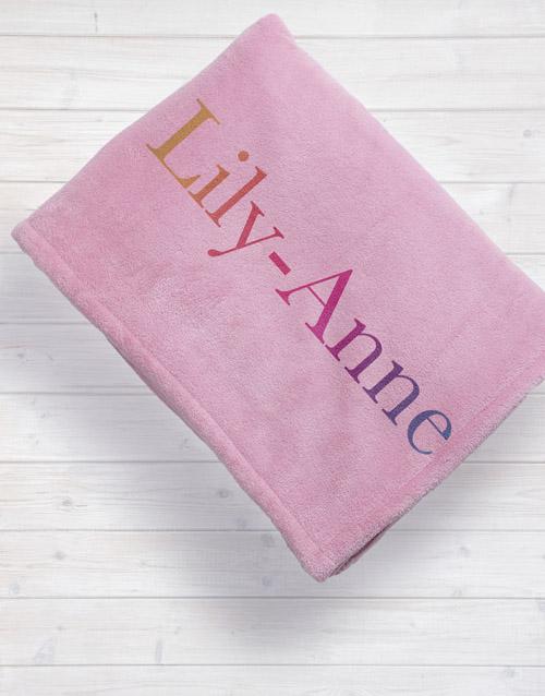 Personalised Multi Colour Baby Fleece Blanket
