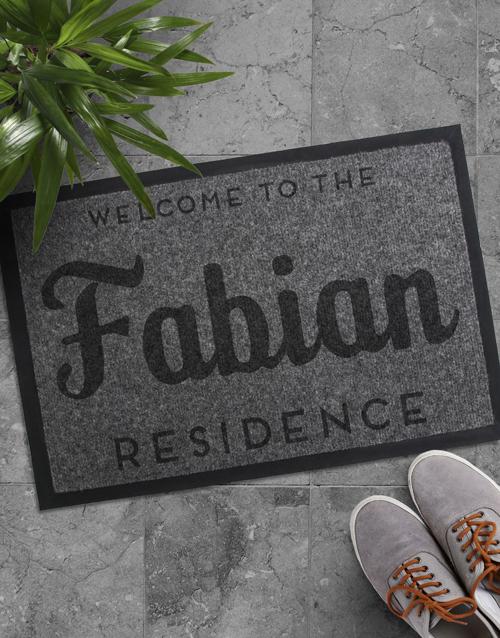Personalised Family Residence Door Mat