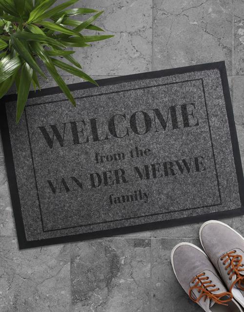 Personalised Welcome Family Door Mat
