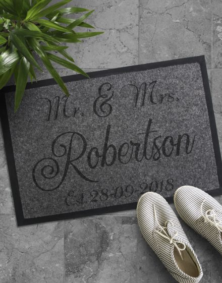 Personalised Mr And Mrs Date Door Mat