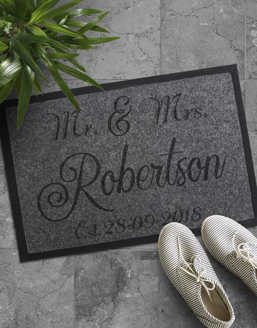 Personalised Mr And Mrs Date Door Mat