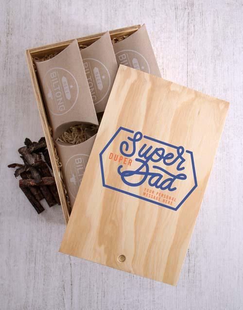 Personalised Super Duper Dad Biltong Crate