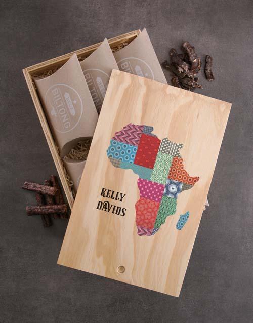 Personalised Taste Of Africa Biltong Crate