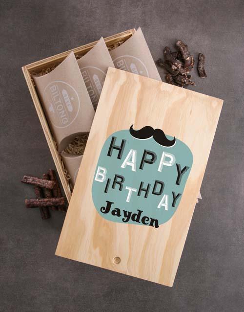 Personalised Biltong Birthday Crate