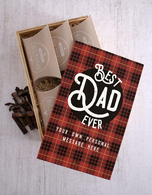 Personalised Best Dad Biltong Crate