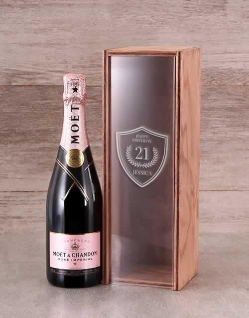 Personalised Birthday Moet Rose Crate