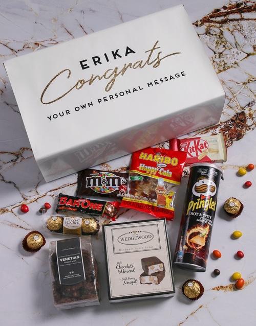 Personalised Congratulations Gourmet Giftbox