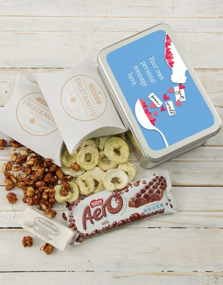 Personalised Get Well Hearts Gift Tin