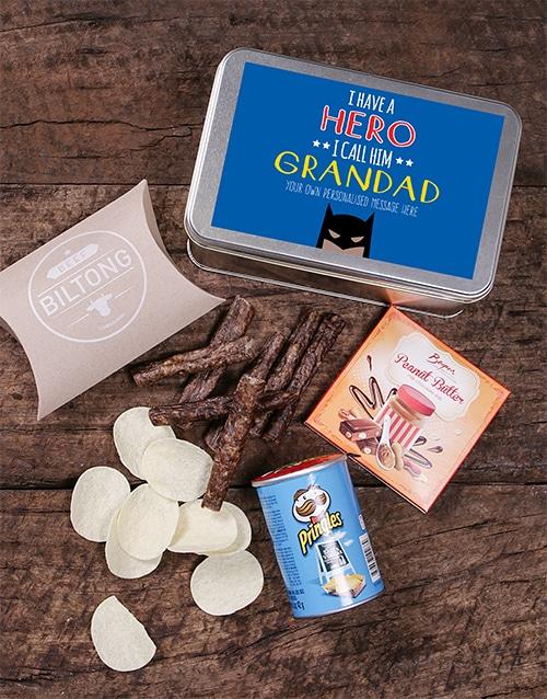Personalised Grandpa Snack Tin