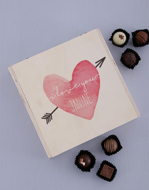 Personalised Love Heart Keepsake Box