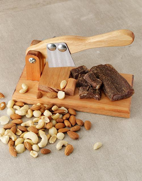Small Biltong Cutter With Biltong & Nuts